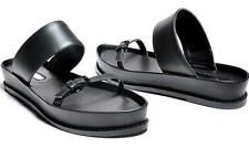 2014 New Flip Flops Simple Wide Strap Black Fashion Nice Sandal smc232
