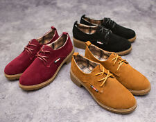 2014 new Women Classic Flat Loafer Lace Up Faux Suede Oxford Shoes BY14