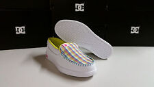 DC Villain W Women's White Plaid Casual / Athletic Shoes BRAND NEW in BOX