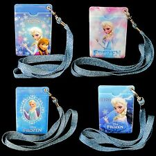 Disney Frozen ID Card Holder Badge Double Sides Neck Strap Office Business