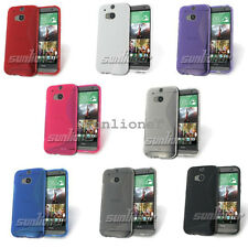 soft Silicone Rubber Gel TPU Skin Case Cover with S-line for HTC ONE M8