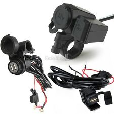Motorcycle Scooter USB Waterproof Cigarette Lighter Power Port Outlet Socket 12V