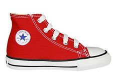 Converse CT Baby/Kids All Star Hi Red Canvas Trainers