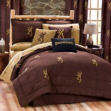 Browning® Burgundy Buckmark Comforter Set~Twin Full Queen King Same Price Sale!