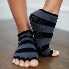 Toezies The Original 1/2 Toe Socks for Yoga/Pilates Sassy Stripes