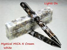 Mystical Mica N Cream Pen Blanks! Real Genuine Mica and acrylic turning blanks.