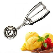 Cute Stainless Steel Ice Cream Spoon Cake Tools with Thickened Gear  Spring