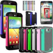 Heavy Duty Hybrid Hard Impact Case Cover+Gift For LG OPTIMUS L90 D410 D415