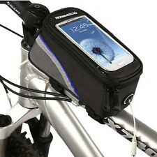 Waterproof Bike Bicycle Frame Pannier Front Tube Bag Case Pouch For Smart Phone