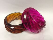 River Island Wide Chunky Solid Heavy Bangle In 2 Funky Colours