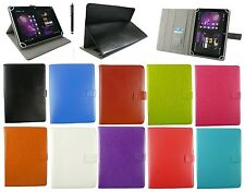 "Universal Wallet Case Cover Stand Folio per 9.7 "" 10"" PER TABLET ANDROID + Stylus"