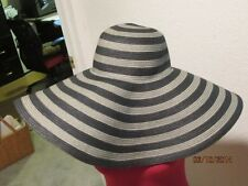NWOT Sunhat With SPF 50+ Rare D&Y-packable/rollable 7 or 6in Brim Black & Gray