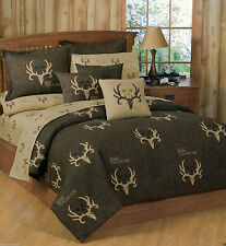 Bone Collector Brown Tan Bed in a Bag Comforter Set AND Sheet Set Included