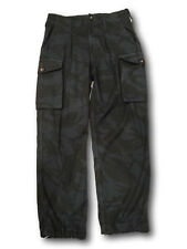 Fatigue Trousers Work Pants Artisan. Re-Dyed Black. Swedish Army Surplus