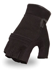 First Manufacturing Men's Mesh Fingerless Gloves w/ Reinforced Knuckles FI167GEL