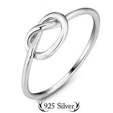 Solid Sterling Silver Knot Promise Ring or Friendship Ring