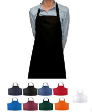 6 NEW CHEF COMMERCIAL POLY BIB APRONS STATEX BRAND 8 COLORS!  BUY 2, GET 1 FREE