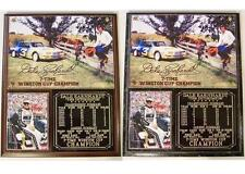 Dale Earnhardt Sr #3 7-Time Winston Cup Champion Photo Card Plaque Intimidator