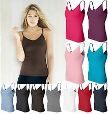 Bella NEW Ladies Size S-2XL Spandex Camisole Yoga Tank Top Shelf Bra Womens 960