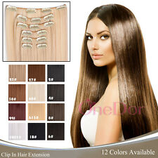 """OneDor 24"""" Straight Full Head Synthetic  Kanekalon Clip in Hair Extensions 7pcs"""