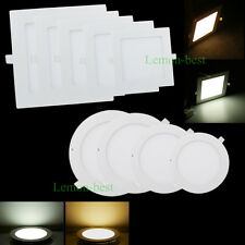 6W 9W 12W 15W 18W 21W Dimmable LED Ceiling Panel Light Recessed Down Light Bulbs