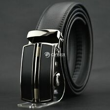 Men's Automatic Buckle Waistband Business Casual Luxury Genuine Leather Belt NEW
