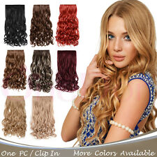 """OneDor 20"""" Curly 3/4 Head Synthetic Hair Extensions Clip in Hairpieces 5 Clips"""
