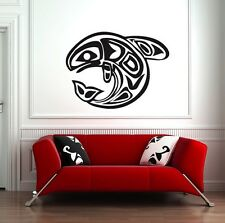 Tribal Whale Wall Decal, Vinyl Sticker