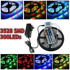 Waterproof 5M 10M 15M 3528 SMD 300Leds LED Strip Light RGB Warm Cool White DC12V