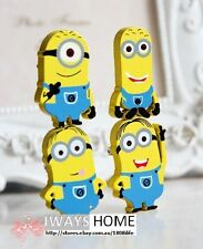 Minions DESPICABLE ME wood Fridge Magnet Cartoon Kids Movie Toy A SET(4) 33*23MM