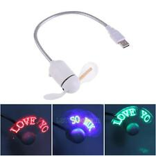 USB LED Flexible Fan with Luminous Input DIY Editable Message for PC Laptop LS4G