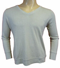 NEW Men's TIMBERLAND Jumper Sweat Blouse Grey V-neck