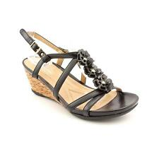 Naturalizer Sudi Womens Open Toe Faux Leather Wedge Sandals Shoes