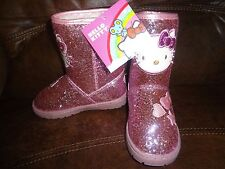 New Youth Girls Toddler Hello Kitty Glitter Boots MSRP $54.99