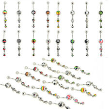 1pcs Sexy Dangle Belly Button Ring Crystal Jewelry Navel Bar Body Piercing HOT