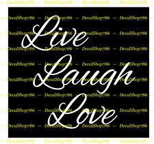 Live Laugh Love - Vinyl Die-Cut Peel N' Stick Decal