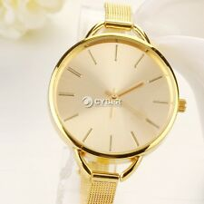 New Silver Girls Women Ladies Gift Analog Dress Stainless Quartz Wrist Watches