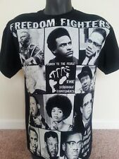 Malcolm X, Marcus Garvey,FF6060, ,BLACK HISTORY, AFRICAN AMERICAN T-SHIRT