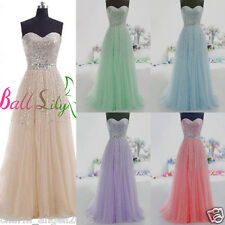 Long Tulle Prom Dresses Quinceanera Ball Gowns Sweet Sixteen Formal Party Dress