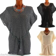 Pull Cape Tunique Robe Haut Maille Or 40/50 - ABIGAELLE - Femme - CharlesElie94