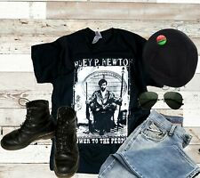 HUEY P. NEWTON, BLACK PANTHER PARTY, BLACK POWER POLITICAL, T-SHIRT