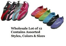 WHOLESALE LOT OF 12 WOMENS WATER SHOES AQUA SOCKS ASSORTED COLORS AND SIZES