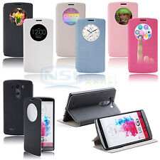 S View Flip Leather Magnetic Smart Circle Case Cover for LG G3 D855 D850