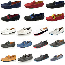 MENS ITALIAN LOAFERS MOCCASIN DRIVING CASUAL PARTY ITALIAN SLIP ON SHOES