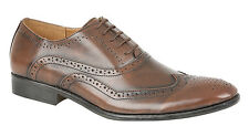 Mens Brogues Lace Up Shoes BROWN Size 7 8 9 10 11 12 EU 41-46