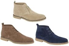 MENS BOYS FAUX SUEDE DESERT LACE UP HIGH QUALITY BOOTS SIZE UK 7-11 EU 41-45