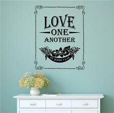Love One Another Bible Verse Vinyl Decal Wall Art Stickers Letters Word Decor