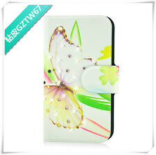 HOT Colourful butterfly flower diamond PU LEATHER FLIP Case COVER for Lenovo