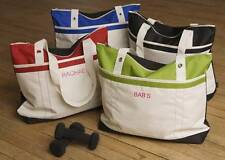 Personalized Custom Embroidered Bride Bridesmaid Nautical Gym Fitness Tote Bag