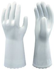 1 Pair Of Showa B0700 Clean White Gloves - PVC Food Safe - 30cm